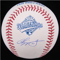 Chipper Jones Signed 1995 World Series Logo Baseball (JSA Hologram)