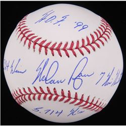 Nolan Ryan Signed OML Baseball With (4) Inscriptions (Radtke Hologram  Ryan Hologram)