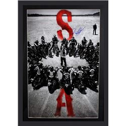 "Ryan Hurst Signed ""Sons of Anarchy"" 29x42 Custom Framed Poster Display Inscribed ""Opie"" (Radtke COA)"