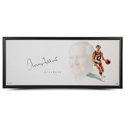 "Jerry West Signed Lakers ""The Show"" 20x46 Custom Framed Photo Display (UDA COA)"