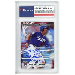 "Cody Bellinger Signed 2017 Topps Chrome Freshman Flash #FF5 Inscribed ""MLB Debut 5/25/17"" (Fanatics"