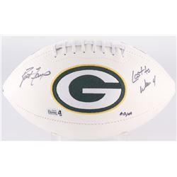 "Brett Favre Signed Packers Logo Football Inscribed ""Last to Wear 4"" Limited Edition #12/44 (Radtke C"