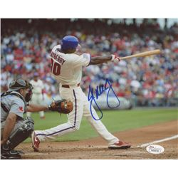 John Mayberry Jr. Signed Phillies 8x10 Photo (JSA COA)