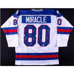 "1980 Team USA ""Miracle On Ice"" Jersey Signed by (17) Including Mike Eruzione, Jim Craig, Jack O'Call"