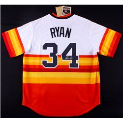 Nolan Ryan Signed Astros Throwback Jersey (FSC COA  Nolan Ryan Hologram)