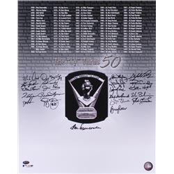 CY Young Award Winners 16x20 Photo Signed by (22) With Don Newcombe, Bob Turley, Gaylord Perry, Spar