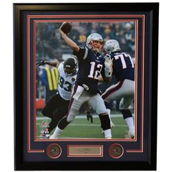 Tom Brady Patriots 22x27 Custom Framed Photo Display with Laser Engraved Autograph