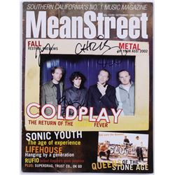 Coldplay 2002 MeanStreet Magazine Band-Signed by (4) with Chris Martin, Jonny Buckland, Guy Berryman