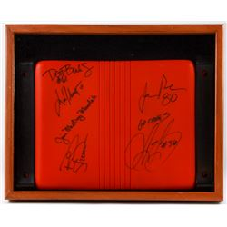 "Orange Bowl 17x21 Custom Framed Stadium Seat Signed by (6) with Joe Rose, Jim ""Mad Dog"" Mandich, Don"