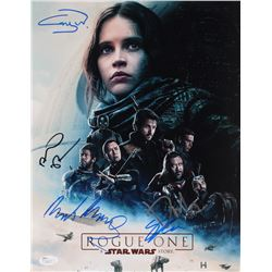 Star Wars Rogue One 11x14 Photo Signed By (5) With Donnie Yen, Mads Mikkelsen, Gareth Edwards, Alan
