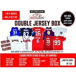 """Double Jersey Box""- Sportscards.com Multi-sport Mystery Signed Jersey Box"