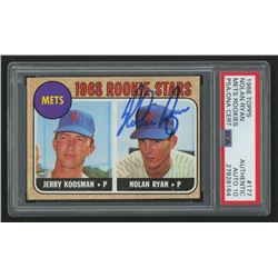 Nolan Ryan Signed 1968 Topps #177 Rookie Stars/Jerry Koosman RC/Nolan Ryan RC (PSA Encapsulated  Aut