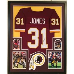 Matt Jones Signed Redskins 34x42 Custom Framed Jersey (JSA COA)