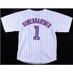 "Thomas Ian Nicholas Signed Cubs ""Rowengartner"" Jersey Inscribed ""Henry Rowengartner""  ""Rookie Of The"