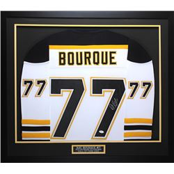 Ray Bourque Signed Bruins 32x37 Custom Framed Jersey (JSA COA)