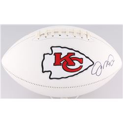 Joe Montana Signed Chiefs Logo Football (JSA COA)