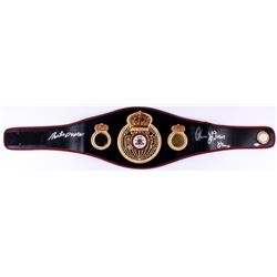 "Roberto Duran  Thomas ""Hitman"" Hearns Signed Full-Size WBA Heavyweight Championship Belt (Beckett CO"