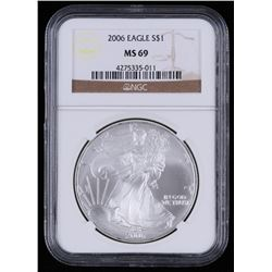 2006 $1 Silver American Eagle Coin (NGC MS69)