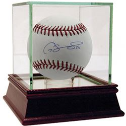 Gary Sanchez Signed OML Baseball With High Quality Display Case (Steiner COA)