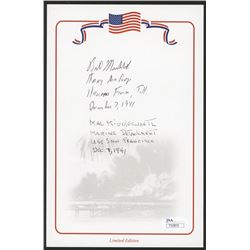 "William ""Bill"" Muehleib  Mal Middlesworth Signed Cut With (5) Inscriptions (JSA COA)"