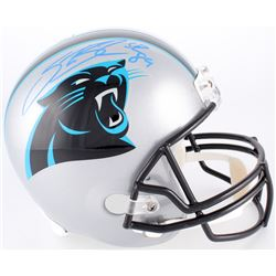 Steve Smith Sr. Signed Panthers Full-Size Helmet (Radtke COA)