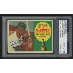 Willie McCovey Signed 1960 Topps #316 RC (PSA Encapsulated - Autograph Grade 10)
