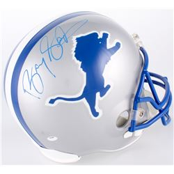 Barry Sanders Signed Lions Throwback Full-Size Helmet (Schwartz Hologram)