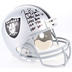 Tim Brown Signed Raiders Full-Size Helmet with (4) Career Stat Inscriptions (Radtke COA)
