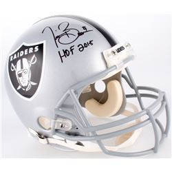 "Tim Brown Signed Raiders Full-Size Authentic On-Field Helmet Inscribed ""HOF 2015"" (Radtke COA)"