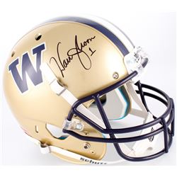 Warren Moon Signed Washington Huskies Full-Size Helmet (Moon Hologram)