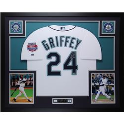 "Ken Griffey Jr. Signed Mariners 35"" x 43"" Custom Framed Jersey Inscribed ""HOF 16"" (TriStar Hologram)"