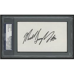 Mike Singletary Signed 3x5 Cut (PSA Encapsulated)