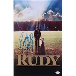 "Rudy Ruettiger Signed ""Rudy"" 11x17 Movie Poster Photo (JSA COA)"