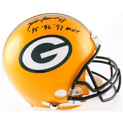 "Brett Favre Signed Packers Full-Size Authentic On-Field Helmet Inscribed ""95' 96' 97' MVP"" (Favre Ho"