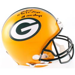 "Brett Favre Signed Packers Full-Size Authentic On-Field Helmet Inscribed ""95' 96' 97' MVP""  ""SB XXXI"