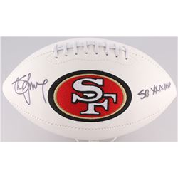 "Steve Young Signed 49ers Logo Football Inscribed ""SB XXIX MVP"" (Radtke Hologram  Young Hologram)"