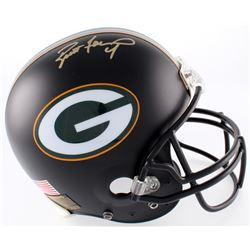 Brett Favre Signed Packers Full-Size Authentic On-Field Matte Black Helmet (Favre COA)