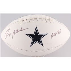 "Roger Staubach Signed Cowboys Logo Football Inscribed ""HOF '85"" (Radtke COA)"