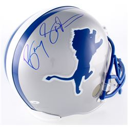 Barry Sanders Signed Lions Throwback Full-Size Helmet (TriStar Hologram)