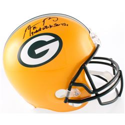 "Aaron Rodgers Signed Packers Full-Size Helmet Inscribed ""Fastest QB to 300 TD"" (Steiner COA)"