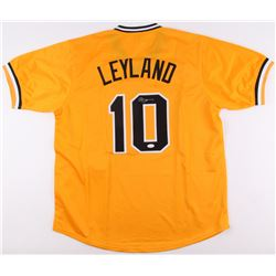 Jim Leyland Signed Pirates Jersey (JSA COA)