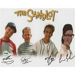 """The Sandlot"" 8x10 Photo Signed by (4) With Victor DiMattia, Shane Obedzinski, Marty York,  Chauncey"