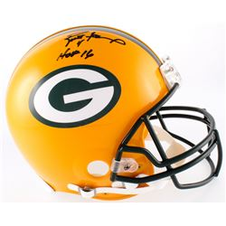 "Brett Favre Signed Packers Full-Size Authentic On-Field Helmet Inscribed ""HOF 16"" (Favre COA)"