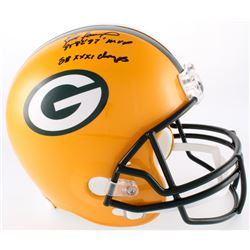 "Brett Favre Signed Packers Full-Size Helmet Inscribed ""95' 96' 97' MVP""  ""SB XXXI Champs"" (Favre COA"