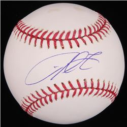 Derrek Lee Signed OML Baseball (MLB Hologram  Fanatics Hologram)