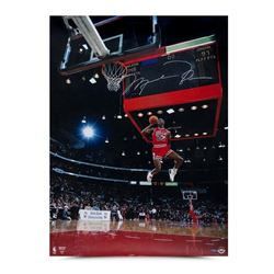 Michael Jordan Signed Bulls  88 Scoreboard  30x40 Photo (UDA COA)
