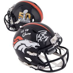 "Peyton Manning Signed Broncos Super Bowl 50 Mini-Helmet Inscribed ""SB 50 Champs"" (Fanatics)"