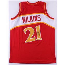Dominique Wilkins Signed Hawks Jersey (JSA COA)