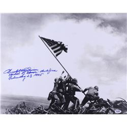 "Hershel W. Williams Signed 16x20 Photo Inscribed ""Medal of Honor""  ""Iwo Jima"" (PSA Hologram)"