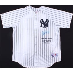 Alex Rodriguez Signed LE Yankees Career Stat Highlight Jersey #13/40 (Steiner COA)